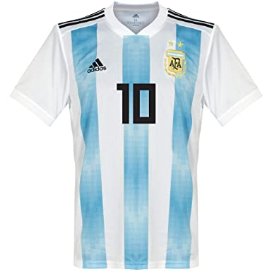 98eaa9f31 Amazon.com  adidas Argentina 2018-2019 Home Messi 10 Jersey Blue White-Medium   Clothing