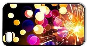 Hipster iPhone 4S case make fireworks sparkler PC Black for Apple iPhone 4/4S