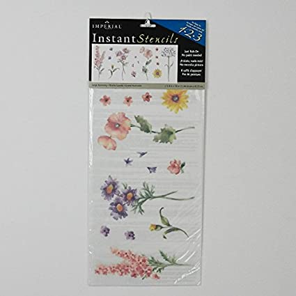 Amazon spring flowers instant stencil home kitchen spring flowers instant stencil mightylinksfo