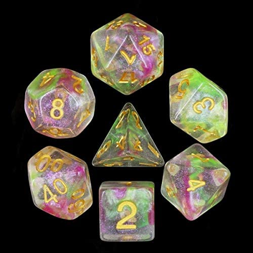 HD Polyhedral Dice Sets D/&D Dice for Dungeon and Dragons RPG Role Playing Games MTG Pathfinder Table Top Games 7 Dice Set Dragons Breath