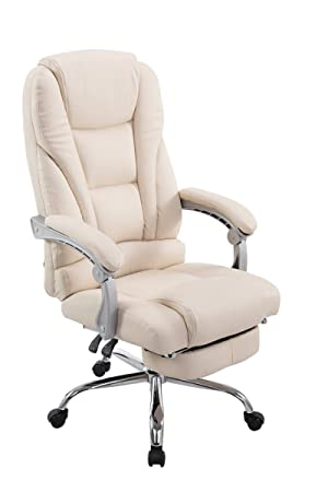 Fantastic Office Chair Desk Chair Racing Chair Computer Chair Gaming Chair With High Back Pu Leather Executive Chair With Footrest Cream Andrewgaddart Wooden Chair Designs For Living Room Andrewgaddartcom