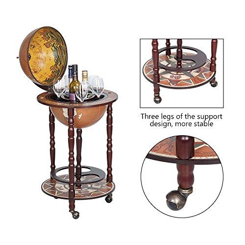 Globe Wine Bar Stand Sixteenth-century Italian Replica As A New Version Global Bar Cabinet, Dark Brown