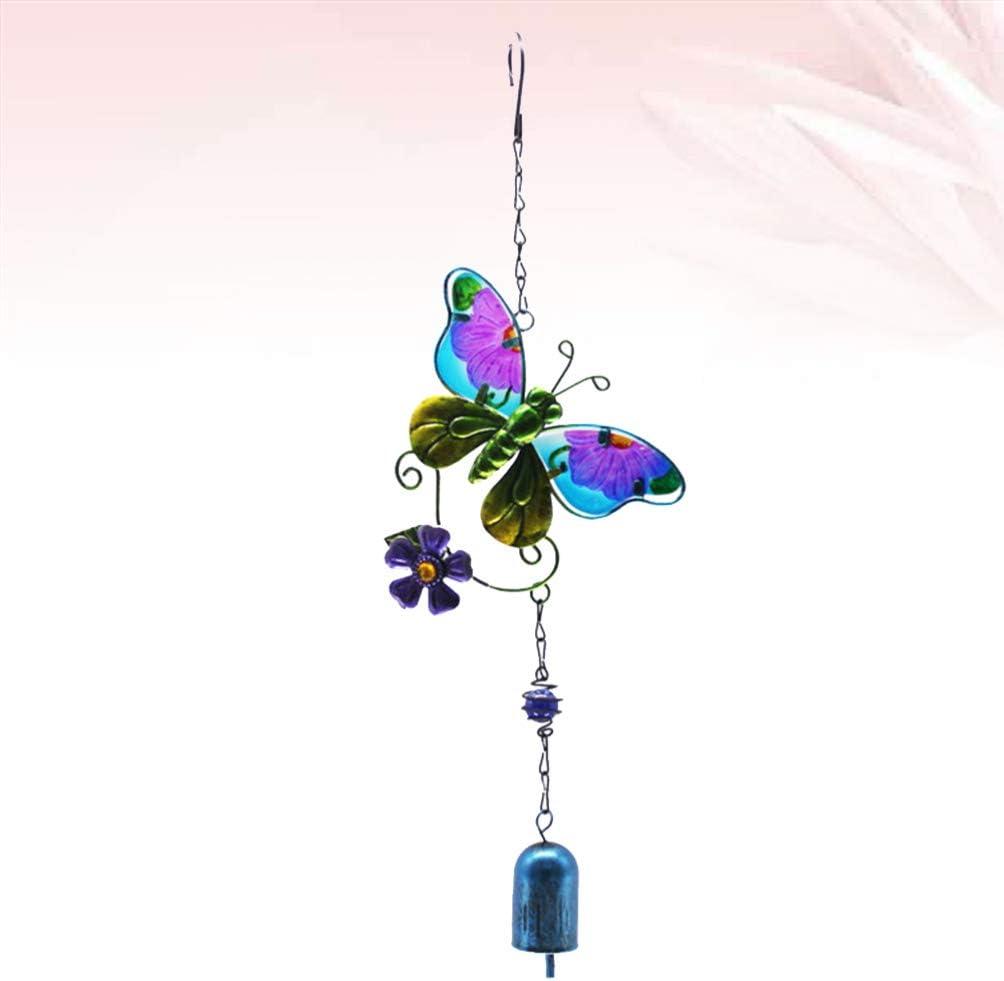 Garneck Schmetterling Wind Glockenspiel Metall Musikalische Windglocken Handwerk H/ängen Dekoration f/ür Wohnzimmer Garten Fenster Terrasse Rasen