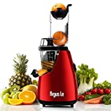 Argus Le Cold Press Juicer, 3'' Big Mouth Whole Slow Masticating Juicer, Easy Cleaning Slow Juicer, 75mm Wide Chute Vertical Juicer Machine
