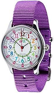 EasyRead Time Teacher Analog Learn The Time Girls Waterproof Watch Purple #WERW-COL-24-PU