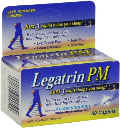 Legatrin PM Caplets, Pain Reliever with Sleep Aid - 50 Each (Value Pack of 2)