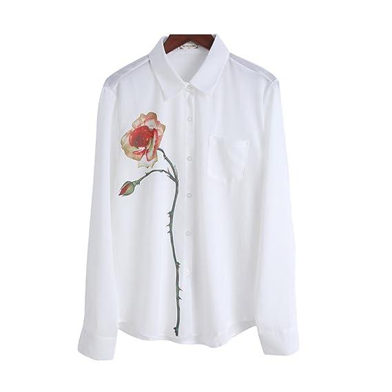 K-youth® Camisas para Mujer, Blusas de Mujer Manga Larga Camisas Mujer de