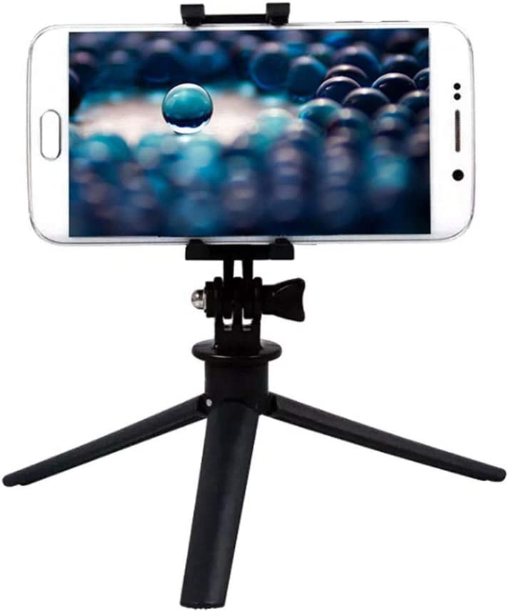 Black aXXcssqw9bFoldable Flexible Mini Tripod Stand Holder for Gopro Nikon Canon Sony Camera