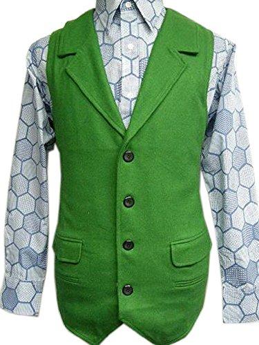 Joker Green Wool Vest Costume Halloween Tdk (M) ()