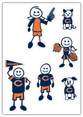 Siskiyou NFL Chicago Bears Small Family Decal Set ()