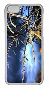 Customized iphone 5C PC Transparent Case - Tree Twigs Covered In Ice Personalized Cover