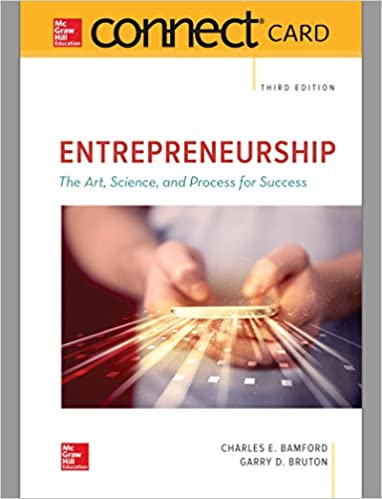Connect 1 Semester Access Card for Entrepreneurship 3rd Edition Image