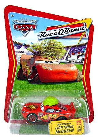 Race O-rama Series (Disney / Pixar CARS Movie 1:55 Die Cast Car Series 4 Race-O-Rama Tumbleweed Lightning McQueen)