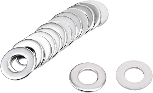 uxcell 20 Pcs 5mm x 10mm x 0.3mm 304 Stainless Steel Wave Spring Washer for Screw Bolt