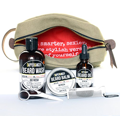 dapperganger beard kit grooming for men beard growth. Black Bedroom Furniture Sets. Home Design Ideas