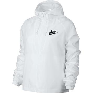 save off online retailer aliexpress Nike W NSW JKT WVN - Jacke Weiß - XS - Damen: Amazon.de ...