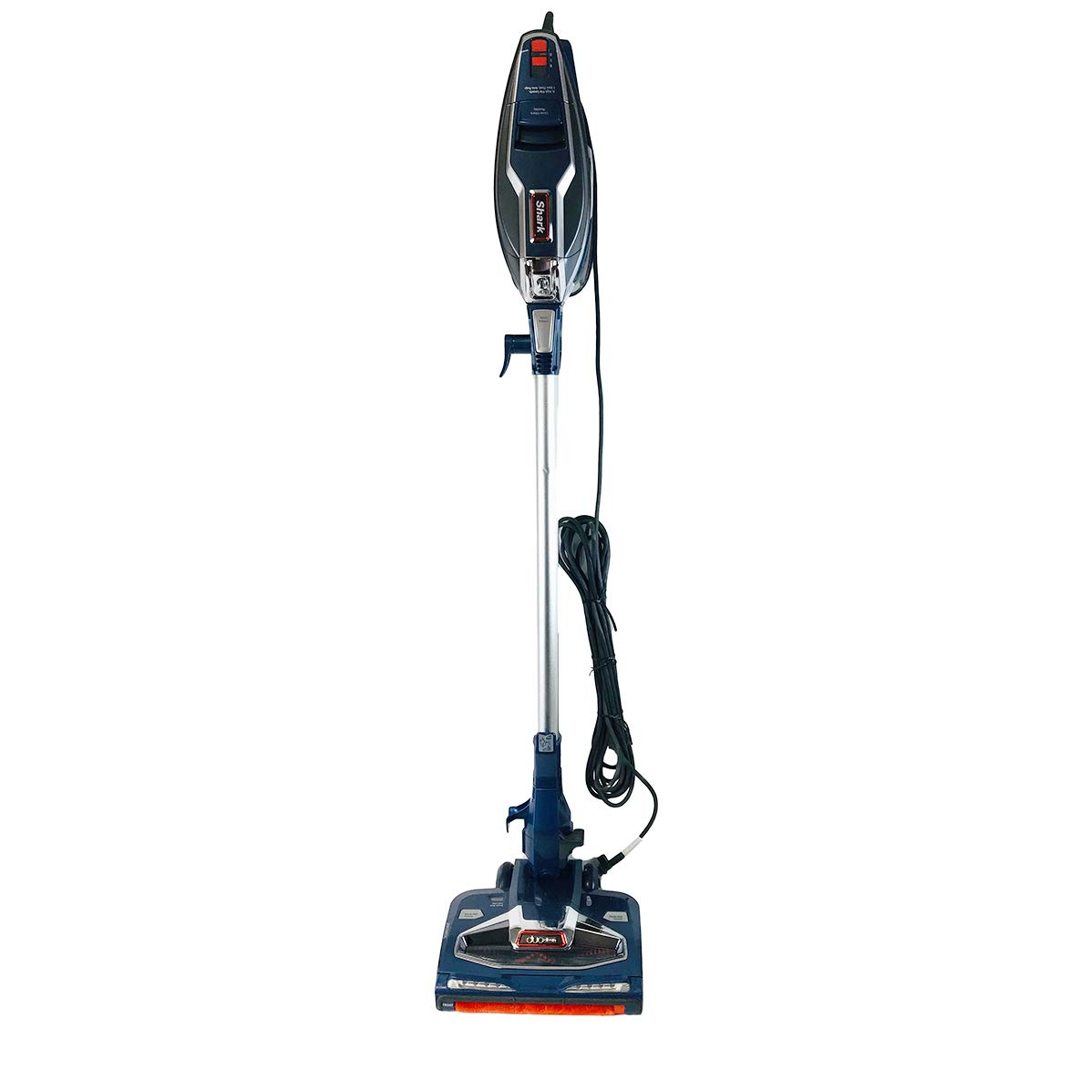 Shark Rocket with DuoClean Technology Ultra-Light Corded Stick Vacuum Cleaner HV384QBL Upholstery Tool and Motorized Floor Nozzle for Bare Floor, Rug and High Pile Carpets HV384Q (Renewed) (Blue)