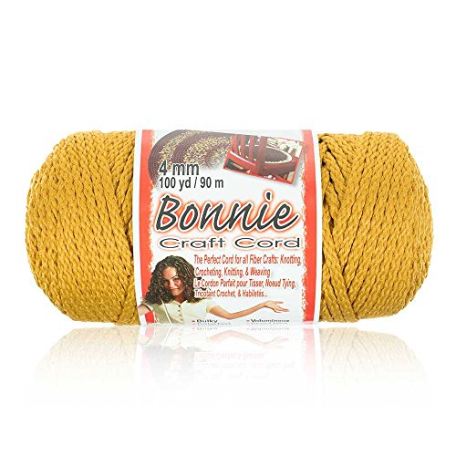 4MM Bonnie Cord, 100 Yards, Gold - Macrame Cord ()