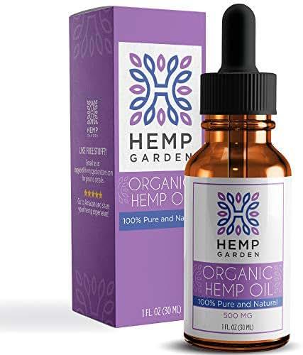 Organic Hemp Oil Drops 500mg - Premium Pain Relief Anti-Inflammatory & Joint Support, Natural Sleep Aid, Perfectly Balanced Essential Fatty Acids Omega 3 & 6, Vegan