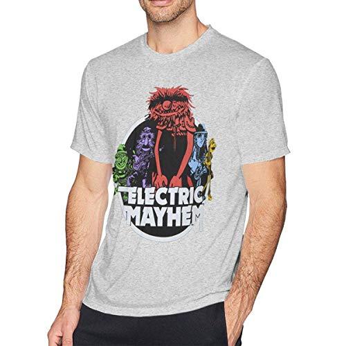 Luisa Tees The Electric Mayhem Men's Short Sleeves Casual T-Shirt Black,Gray,X-Large