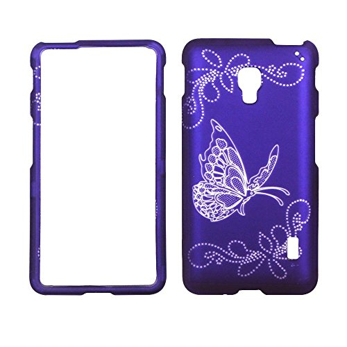2D-Silver-Buttefly-On-Purple-LG-Optimus-F6-D500-MS500-MetroPCS-T-Mobile-Case-Cover-Phone-Snap-on-Cover-Case-Faceplates