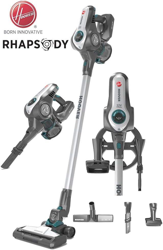 Hoover Rhapsody - Aspiradora de mano con batería 2 en 1, batería de ion de litio de 22 V, soporte de pared, boquilla para parqué, cepillo de rodillo: Amazon.es: Hogar