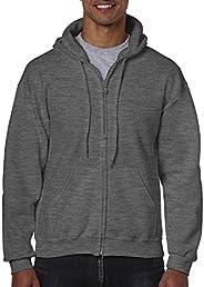 GILDAN Mens Fleece Zip Hooded Sweatshirt Shirt