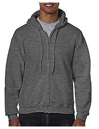 Gildan Mens Men's Fleece Zip Hooded Sweatshirt