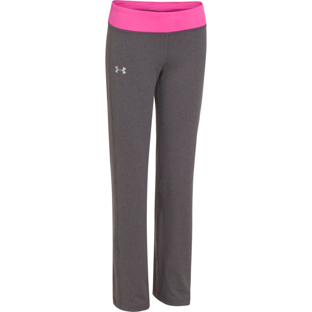 Under Armour Kids Girls Rally Pant, Carbon Heather/Chaos/Silver XL (18-20 Big Kids) X One Size