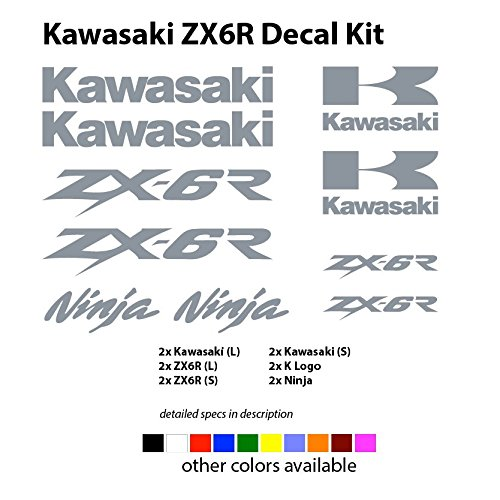Kawasaki Racing 12 Decal Set - Choose from ZX6R ZX10R ZX6 ZX10 (ZX6R