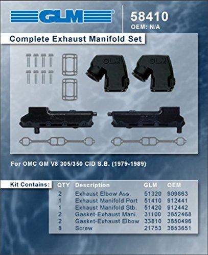 OMC STRINGER COMPLETE EXHAUST MANIFOLD SET | GLM Part Number: 58410