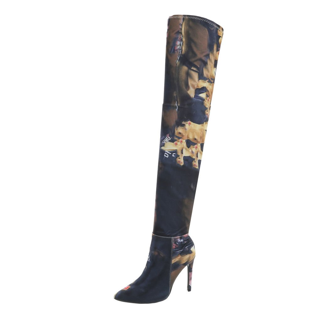 Ital-Design Chaussures Bottes Femme B07D9LLKT1 Bottes et Bottines Cuissardes Aiguille Bottes Cuissardes Rose Multi My212 56268d1 - latesttechnology.space