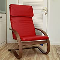 International Caravan TXRC-01-WV-RD-IC Furniture Piece Stockholm Contemporary Bentwood Rocking Chair