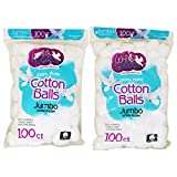 White Dove Cotton Balls, 100% Pure Cotton, 100Ct (2 Pack)