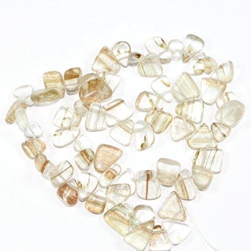 Teardrop Pendant Freeform (AAA Natural Gold Rock Crystal Gemstones Smooth Teardrop Loose Beads Free-form ~18x10mm beads ( ~16