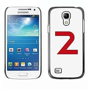 LECELL--Funda protectora / Cubierta / Piel For Samsung Galaxy S4 Mini i9190 MINI VERSION! -- 2 Letter Number Second Minimalist --