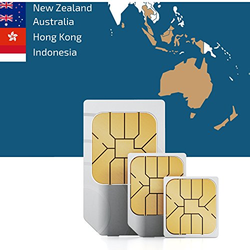 Southeastern Asia & Oceania 3GB Prepaid Fast Internet Data SIM 42 Countries Instant Connection 30 Day Plan (Best Data Prepaid Plan Singapore)