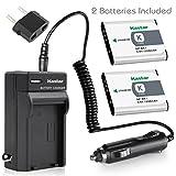 Kastar Battery 2-Pack +Charger for Sony NP-BK1, BC-CSK & Sony Bloggie MHS-CM5, MHS-PM5, Cyber-shot DSC-S750, DSC-S780, DSC-S950, DSC-S980, DSC-W180, DSC-W190, DSC-W370, Webbie MHS-PM1 Cameras