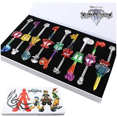 Kingdom Hearts 2 II Colorful Key Blade Sora Charm Pendant 9pcs/set