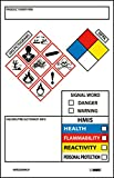 National Marker Ghs Secondary Container Labels, Picto Images, Hmis, Nfpa,Hazard/Precaution Info,3.5''X2.25'',Ps Vinyl, 250Roll