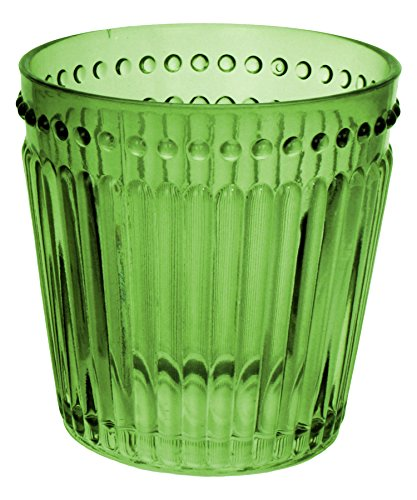 Zrike Brands Opulence Double Old Fashioned Glass, Green, Set of ()