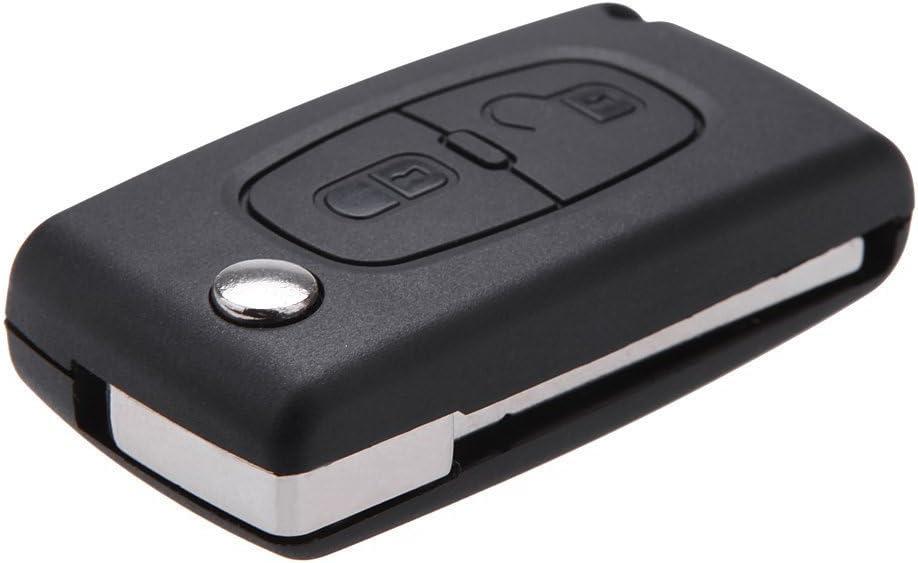 2 Botón Carcasa del Mando Pra Peugeot 206 107 207 307 407 Citroen C2 C3 C4 C5 C6