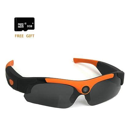 400c77299b5 Amazon.com : FTON HD 1080P Eyewear Sunglasses Camera Recording DVR Glasses  Camcorder+Free 8G Micro SD Card Orange : Camera & Photo