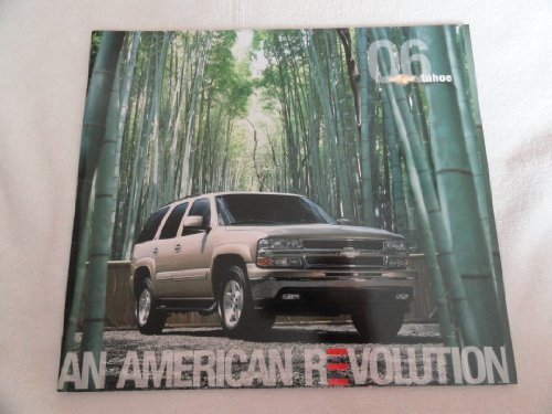 2006 Chevrolet Chevy Tahoe Sales Brochure Book