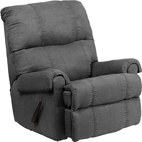Flash Furniture Contemporary Flatsuede Graphite Microfiber Rocker Recliner