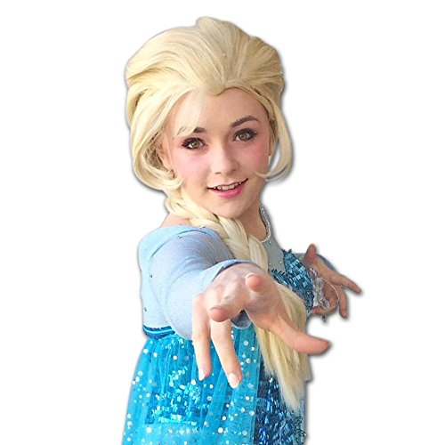 Wraith of East Princess Elsa Wigs Adult Snow Queen Cosplay Accessories Free Hair Cap -
