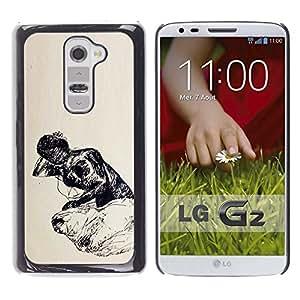 Be Good Phone Accessory // Dura Cáscara cubierta Protectora Caso Carcasa Funda de Protección para LG G2 D800 D802 D802TA D803 VS980 LS980 // poor life