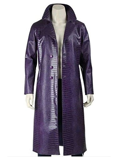 The Joker Suicide Squad Jared Leto Purple Coat - Halloween Costume -