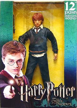 Click for larger image of Harry Potter Order of the Phoenix Ron Weasley 12' Action figure with Sound