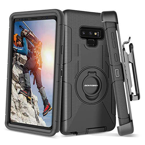 Galaxy Note 9 Case,BENTOBEN Shockproof Heavy Duty Rugged Hybrid Hard PC Cover Soft Silicone Bumper Full Body Protective Phone Case with Kickstand Belt Clip Holster for Samsung Galaxy Note 9,Black